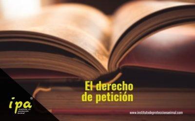 El Derecho de Petición. Un mecanismo jurídico para hacer valer tus derechos y los de los animales y el medio ambiente