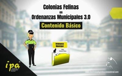 Colonias Felinas en Ordenanzas Municipales 3.0 (Contenido básico)