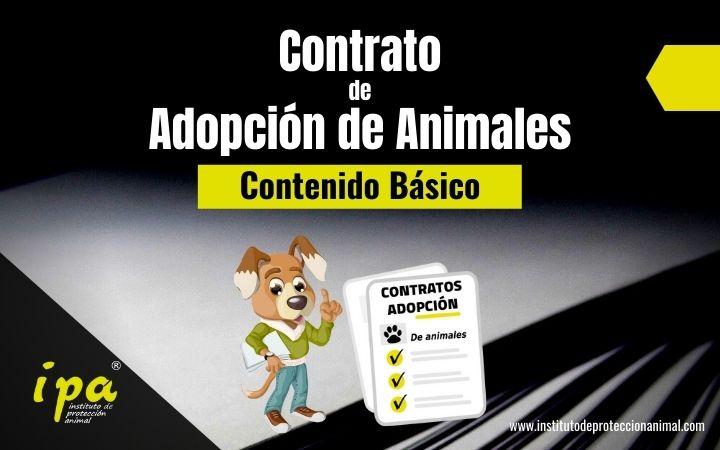 Contenido básico del Contrato de Adopción de Animales